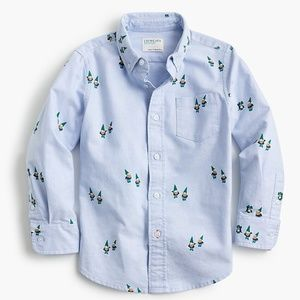 🧙♂️ J.Crew Critter Oxford Shirt in Gnomes 🧙♂️